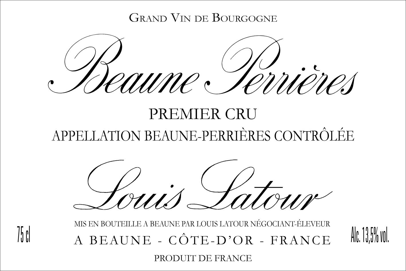 Beaune 1er Cru Perrires Maison Louis Latour