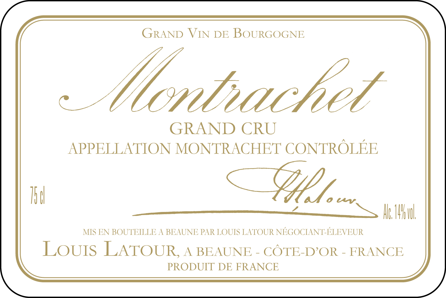 Fabuleux Montrachet Grand Cru - Maison Louis Latour KJ25